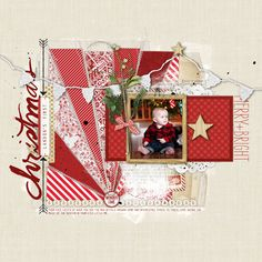 sweet Christmas Scrapbook page from Kayleigh at DesignerDigitals