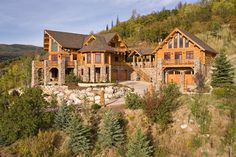 This spectacular log #houseplan is perfect for families that enjoy the outdoor lifestyle and sophisticated rustic charm of a log home. - See more at: http://www.thehousedesigners.com/plan/ultimate-log-home-9436/#sthash.fnyk85Pw.dpuf