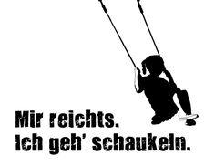 """Spruch Postkarte """"Schaukel"""" Druck"""