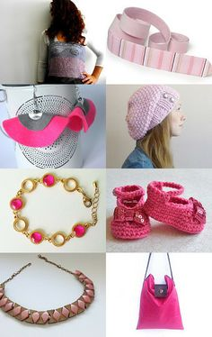 "Pretty in pinks! Check Etsy treasury ""Sweet"" by Katrina Hagler. You can find my bracelet, too!"