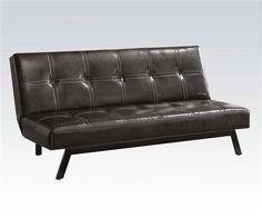 Kenzi PU Espresso Adjustable Sofa