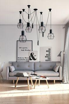 Scandinavian Living Room - lights