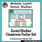 This is a set of 34 posters for a Social Studies classroom.  Includes posters on organizational tools, key Social Studies terms, Course descriptions, and more!...
