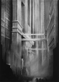 Original Cities Drawing by Scott Gillis Architecture Concept Drawings, Art And Architecture, Architectural Drawings, Fantasy Landscape, Fantasy Art, Art Deco, Drawing Faces, Art Drawings, Pencil Drawings