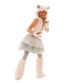 Kitty cat halloween costume i LOVE! Pink & Gray Grace Kitty Costume Set - Tween by Princess Paradise Cute Cat Costumes, Teen Girl Costumes, Halloween Costumes For Teens, Princess Costumes, Family Costumes, Halloween Kostüm, Costume Ideas, Kid Costumes, Halloween Parties