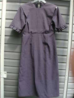 wOMAN'S aMISH MENNONITE Bid old fashioned reenactment dress apron set  green small med civil war reenactment