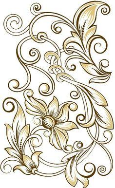 (46) Одноклассники Stencil Patterns, Stencil Designs, Hand Embroidery Designs, Embroidery Patterns, Art Sculpture En Bois, 3d Laser Printer, Ornament Drawing, Wood Burning Patterns, Wood Carving Art
