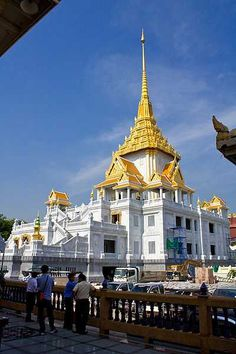 Wat Traimit Thailand  This highly revered temple contains the Golden Image Buddha, which is made of solid gold and weighs approximately 5 ½ tons.
