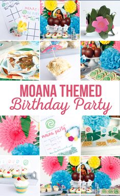 Ideas for A Moana Themed Birthday Party that kids will go crazy for! We've taken this popular Movie and created the cutest party to go along with it! Moana Birthday Party, Disney Birthday, 4th Birthday Parties, Birthday Fun, Birthday Party Decorations, Moana Party, Kid Parties, 16th Birthday, Diy Party