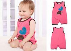 Infant Newborn Baby Toddler Cotton Sleeveless Bodysuits Romper Elephant 0-3M #ibaby #Everyday