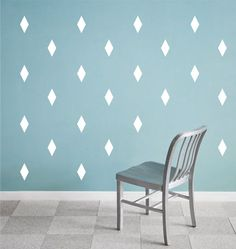 Diamond wall decals - set of 50