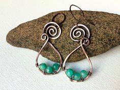 A personal favorite from my Etsy shop https://www.etsy.com/listing/454168114/copper-boho-earrings
