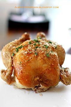 Roast chicken with salt crust. recipes