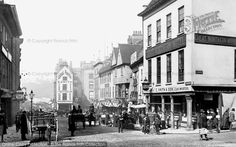 Photo of Nottingham, Cheapside 1890 from Francis Frith Nottingham City, Uk Photos, Vintage London, Family History, Over The Years, Britain, The Past, Street View, England