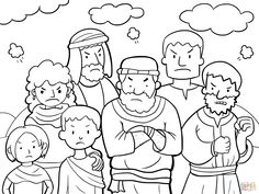 Grade 4 bible study israel wanders the wilderness bible for Miriam gets leprosy coloring page
