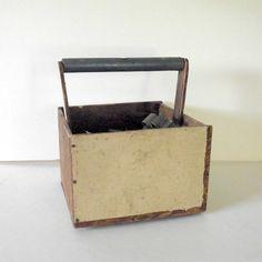 Vintage Wood Carry Tote Tool Caddy by RetroVintageBazaar on Etsy, $23.00