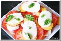 Tomato Nectarine Caprese Salad