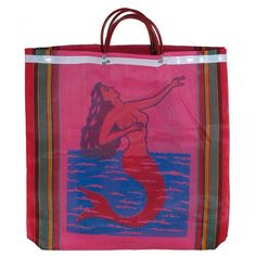 """Our Mexican mesh market bags and oilcloth totes are colorful and practical accessories. The market bags or """"Bolsas"""" are made from woven poly mesh in many sizes and can be used as shopping bags, totes, beach bags and purses. Witch Eyes, Mexican Market, Mexican Designs, Welcome Bags, Market Bag, Shopper Bag, Brown Bags, Mermaid, Monogram"""