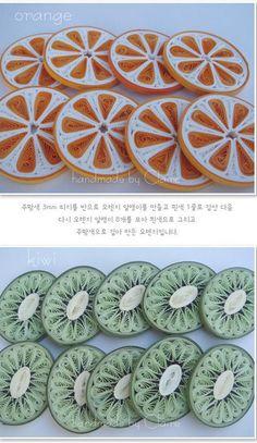 spectacular quilled fruit. no originating link.