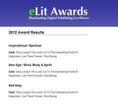 eLit Book Awards 3 Gold Medals – Author Woo Myung | Meditation USA