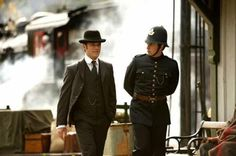 [TV series] Yannick Bisson as Detective Murdoch and Jonny Harris as Constable Crabtree (The Murdoch Myteries, Jonny Harris, Chris Halliwell, Murdock Mysteries, The Ellen Show, Cinema Movies, Mystery Series, Scientific Method, Forensics, Canada
