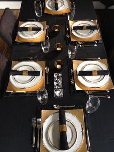 Asian modern elegant table setting.