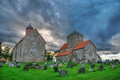 NORWAY: The Sister Churches, Built before year 1200, Gran, Oppland Fylke.