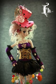 Mad Hatter Doll , one of a kind dolls by Aidamaris Roman Forgotten Hearts