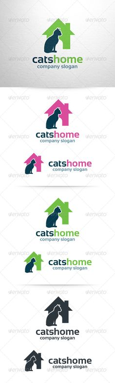 Cats Home Logo Template — Vector EPS #information #template • Available here → https://graphicriver.net/item/cats-home-logo-template/6584229?ref=pxcr
