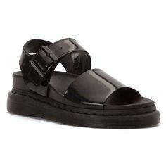 Dr. Martens Romi Y Strap Sandal Women's Walking Sandals Black Petrol