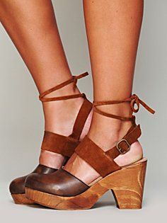 Belmont Leather Clog in heels-wedges - holy moly Cindy those are gorge!