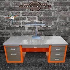 Retro office desk.