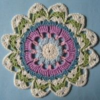 Crochet Mandala Wheel made by  Deborah, Bolton, UK for  yarndale.co.uk