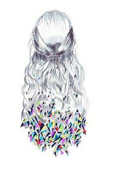 Illustration, hair