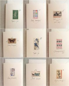 postage stamp cards!