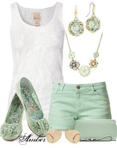 """Summer Mint !"" by stay-at-home-mom on Polyvore. Cute for summer!"