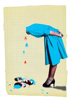 Tears by Pierre-Paul Pariseau - So into this on Arthewall! Pierre Paul, Collage, Smurfs, Illustration Art, Gallery Wall, Art Prints, Artist, Artwork, Fictional Characters