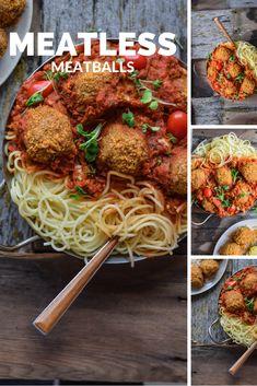 The Best Vegan Meatless Meatballs   FoodByMaria