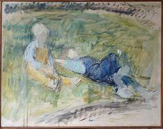 Maleri. 93 x 117 cm. Olie på lærred. <br /><br />(3998)
