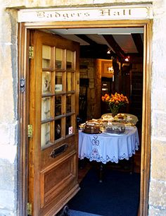 Badgers Hall is the quintessential English Tea Room and has established the highest reputation for freshly made food & mouthwatering cakes.A Step back in time.Situated in the Cotwolds market town of Chipping Campden.The building is of honey colored Cotswold stone dating from the 15th century w/mullioned windows & exposed beams.It stands almost opposite the historic market hall built in 1627 by Sir Baptist Hicks for the sale of local produce. Favorite tearoom. @Dawn Wiggers ... let's go…