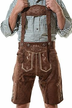 Lederhosen Costume Authentic Oktoberfest Lederhosen GEORG suede leather Suspenders are included Lined for your comfort authentic Elaborate embroidery work Funny Sweaters, Cheap Sweaters, Sweaters And Leggings, Long Sweaters, German Lederhosen, Leather Suspenders, Leather Trousers, Leather Jackets, Suits