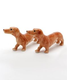 This vintage-inspired salt and pepper shaker set features beautifully painted details sure to delight dog-lovers. Salt N Pepper, Salt Pepper Shakers, Crusoe The Celebrity Dachshund, Love Your Pet Day, Dog Health Tips, Dog Memes, Dog Friends, I Love Dogs, Dog Lovers