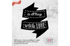 Ribbon banner chalkboard 3 by DM made with love Pty Ltd on hellopretty.co.za