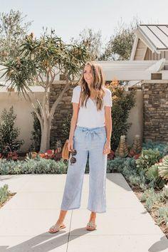 DIY striped linen pants | merricksart.com