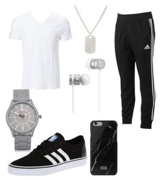 """""""Chillin"""" by lalaej on Polyvore featuring adidas, adidas Originals, Beats by Dr. Dre, Native Union, River Island, Loren Stewart, men's fashion and menswear"""