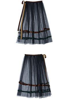 See-Through Mesh Skirt   STYLENANDA
