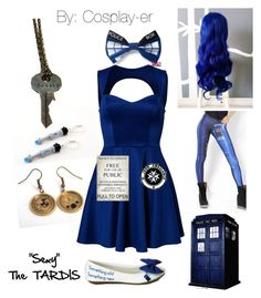 """""""The TARDIS cosplay"""" by cosplay-er ❤ liked on Polyvore featuring Oneness, POLICE and St. John"""