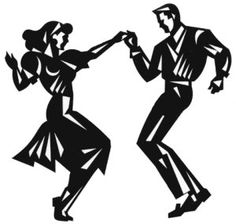 Silhouette Swing Dancing Couple By Dance Clipart - Free Clip Art ...