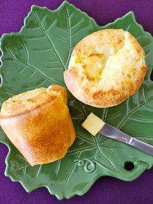 my nemesis, the popover. Let's try these: Easy Cheesy Popovers from Weelicious