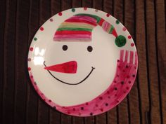Easy personalized craft project: Supplies needed/instructions ~Plate ~Clean plate with soap and water ~Dry plate completely ~Desired design ~Sharpie markers ~Once drawing is complete place in cold oven ~Preheat to 450• and bake for 30 minutes ~Let cool in oven ~This temp should adhere the sharpie marker to the plate.